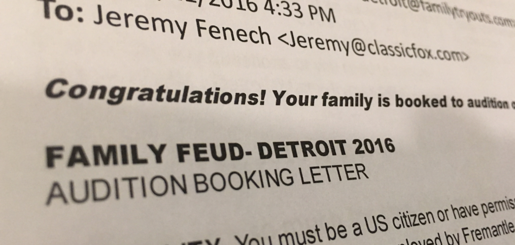 We've Been Accepted to Audition for 'Family Feud'! [VIDEO]